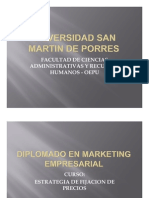 Usmp - Sesion 1 Estrategia de Fijacion de Precios - Diplomado 2009 II