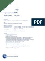 Ge752rb3 Spec Sheet
