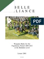 Belle Alliance Wargame rules