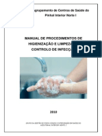Manual de Procedimentos de Higienização e Limpeza em Controlo da Infecção