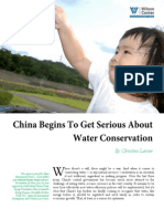 China Begins to Get Serious about Water Conservation