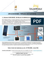Sistemas Fotovoltaicos en 220 Volt 50Hz