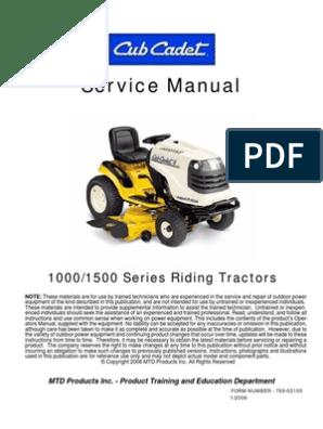 mtd 600 series must have manual