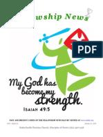 January 22, 2014 Fellowship News