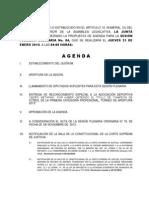 23 Enero 2014 Agenda