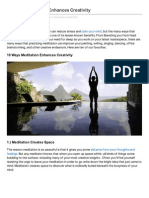 10 Ways Meditation Enhances Creativity - About Meditation