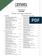 ZfWG_04_09_Inhaltsverzeichnis