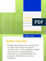 Análise Sensorial - aula 1