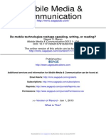 Baron, N. S. 2013 - Do Mobile Technologies Reshape Speaking, Writing, Or Reading