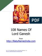 108 Names of Lord Ganesh