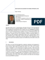 Risk-based Component Life Management in Fossil Power Plants a. Jovanovic,