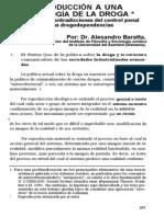 BARATTA, Alessandro- Introduccion a Una Sociologia de La Droga