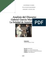 Informe Analisis Del Discurso La Soledad de America Latina Gabriel Garcia Marquez