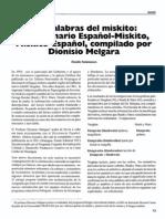 Diccionario Miskito