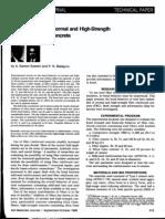 1989_EZELDIN, BALAGURU (1989) Bond Behavior of Normal and High-Strength Fiber Reinforced Concrete