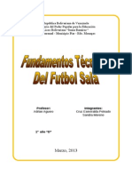 Trabajo(Tecnicas y Fundamentos Futbol Sala)