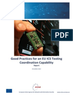 Good Practices for an EU ICS Testing Coordination Capability