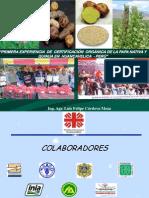 Certificacion Organica de Papa Nativa y Quinua
