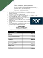 Finance Improvements