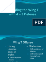 Defending the Wing T Offense With 4