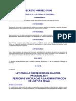 Ley de Proteccion a Testigos DECRETO DEL CONGRESO 70-96 (1)