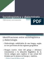 Sociolingüística y dialectología