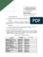 Resolución fecha de Evaluaciones 201410