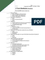 unit test - objective part - hinduism esl variation
