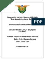 LITERATURA INFANTIL Y CREACIÓN LITERARIA