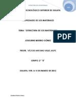 Estructura de Los Materiales (Ensayo)