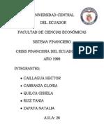 Crisis Del Sitema Financiero de 1999