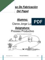 Proceso De Fabricación del papel