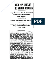 Reelfoot Lake Night Riders - New York Post - January 9, 1909 - Verdict