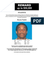 wanted poster for Keyon Taylor