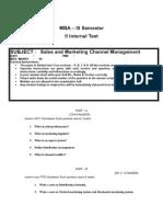 2nd Internals Question Paper