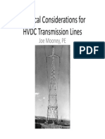 Electrical Considerations for HVDC Transmission Lines