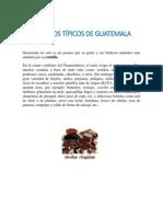PLATILLOS TÍPICOS DE GUATEMALA