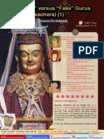 Lake of Lotus (3)-Authentic Versus Fake Gurus (Spiritual Teachers) (1)-The Similarities and Differences for Mahayana and Vajrayana Buddhism- The Significance of the Guru-By Vajra Master Yeshe Thaye