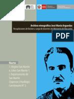 Arguedas, José María. Libro San Martin 1 Saposoa y Huallaga