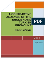 A Contrastive Analysis of the English and Turkish Pronouns Yuksel Goknel-signed