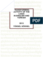 Transforming Activity of the Logic in English and Turkish Yuksel Goknel-signed