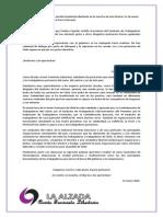 Declaración de LA ALZADA, en apoyo a la Huelga Portuaria