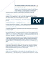 Position Paper on Originals