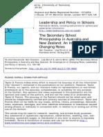 Secondary School Principalship