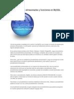 Procedimientos Almacenados y Funciones en MySQL