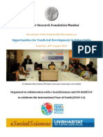 ORF Event Newsletter - Youth-Led Development - 090910