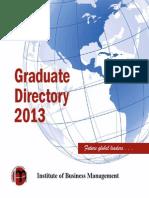 Graduate Directory_ IoBM _2013
