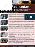 Yoogma - Event Report on Chief Accountants' Forum February, 2013
