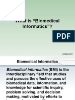AMIA Definition of Biomedical Informatics