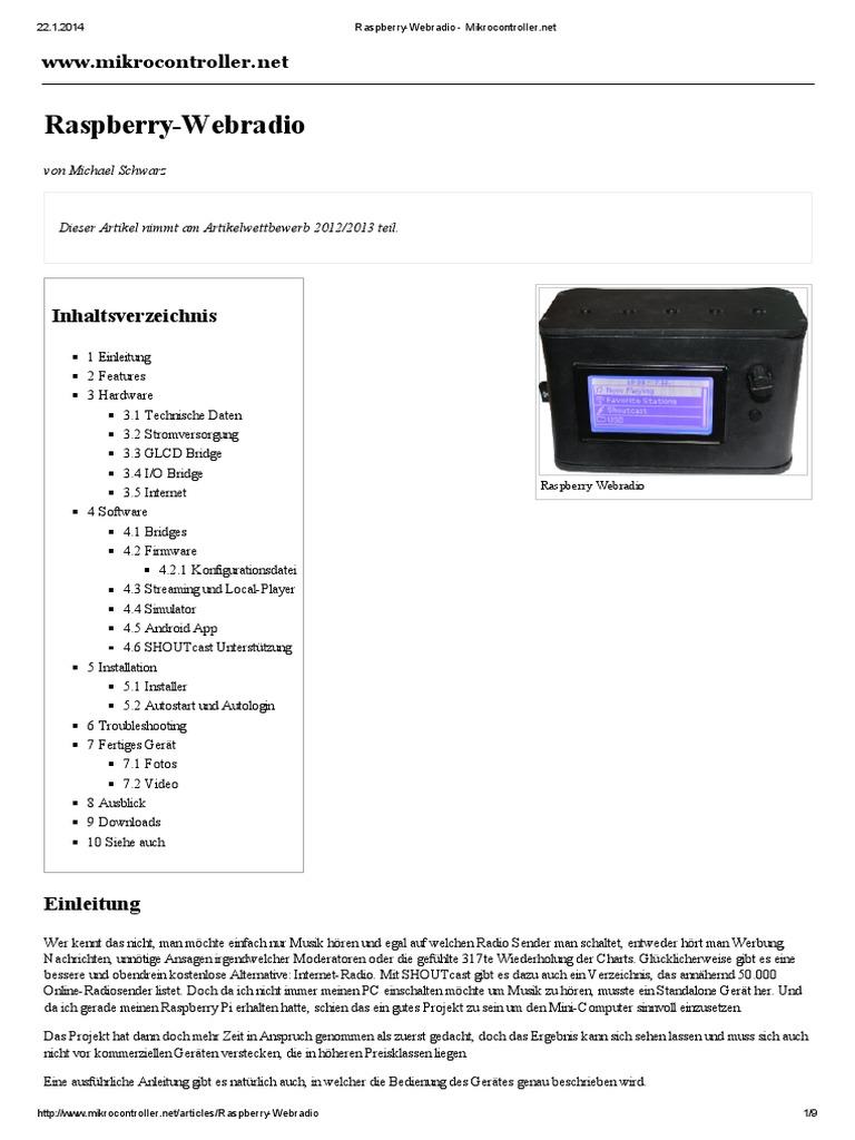 Raspberry Webradio Mikrocontroller Wiringpi Jtag